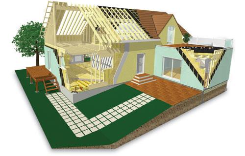 comment sur lever ou agrandir avec une ossature bois solutions. Black Bedroom Furniture Sets. Home Design Ideas