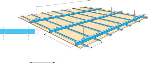 5 syst mes de plafond base de plaque de pl tre solutions - Plafond suspendu placo suspente ...