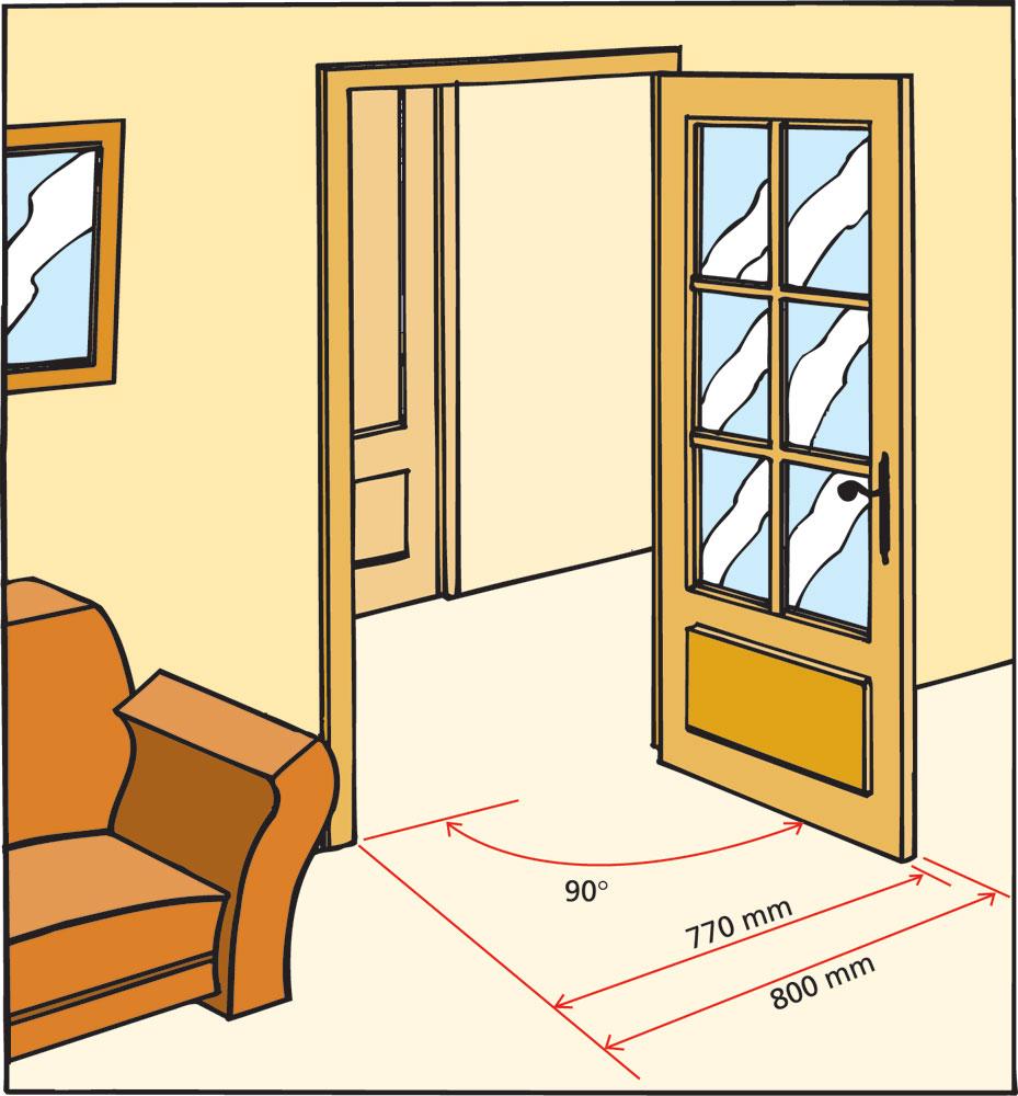 rendre accessibles les entr es d 39 un logement g n rale normes. Black Bedroom Furniture Sets. Home Design Ideas